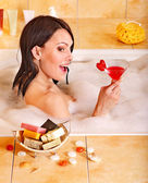 Woman relaxing in bath. — Stock Photo