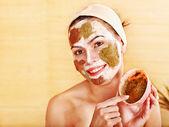 Natural homemade clay facial masks . — 图库照片