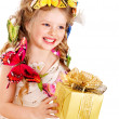 Child with gift box. — Stock Photo #9280150