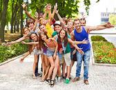 Grupo de al aire libre. — Foto de Stock