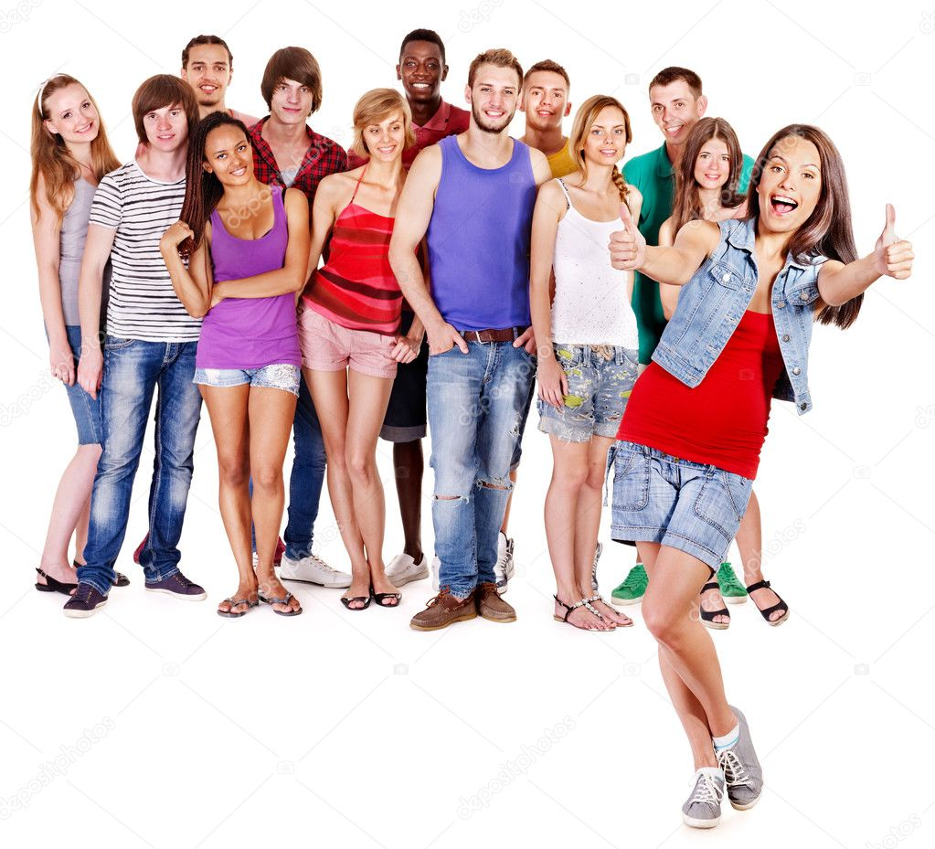 Multi-ethnic group .  Isolated. — Stock Photo #9298728