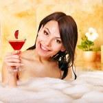 Woman relaxing in bath. — Stock Photo #9301423