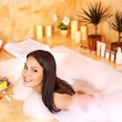 Woman take bubble bath. — Stock Photo #9301446