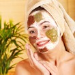 Natural homemade clay  facial masks . - Foto Stock