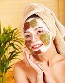 Natural homemade clay facial masks . — Stock Photo