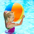 Royalty-Free Stock Photo: Child swimming in pool.