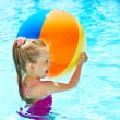 Child swimming in pool. — Stock Photo #9497754