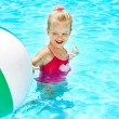 Child swimming in pool. — Stock Photo #9497755