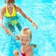 Children in swimming pool. — Stok fotoğraf