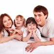Happy family with children. — Stock Photo #9499391