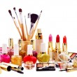 Decorative cosmetics for makeup. - Stock Photo