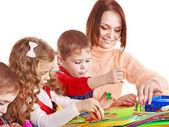 çocuk anaokulu öğretmeni. — Stok fotoğraf