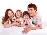 Happy family with children. — Stock Photo