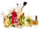 Decorative cosmetics and perfume. — Stock Photo