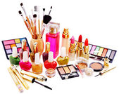 Decorative cosmetics and perfume. — Stock Photo