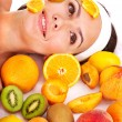 Natural homemade fruit  facial masks . - Stockfoto
