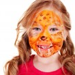 Children with paint of face. — Stock Photo #9508172