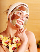 Natural homemade clay facial masks. — Stock Photo