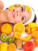 Natural homemade fruit facial masks . — Stockfoto