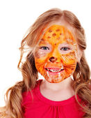 Children with paint of face. — Stock Photo