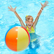 Child swimming in pool. — Stock Photo #9512936