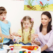 Kids painting in preschool. — Stock Photo #9516267
