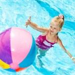 Child swimming in pool. — Stock Photo #9862191