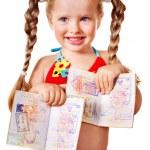 Child holding international passport. — Stock Photo #9862193
