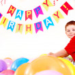 Child birthday party with boy. — Stock Photo