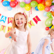 Child birthday party with girl. — Stock Photo #9869824