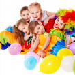 Foto Stock: Child birthday party .