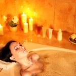 Woman take bubble bath. — Stock Photo #9870869