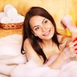 Woman take bubble bath. — Stock Photo #9870932