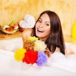 Woman take bubble bath. — Stock Photo #9870934