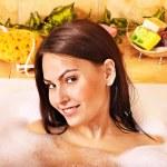 Woman take bubble bath. — Stock Photo #9870938