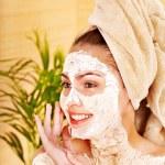 Natural homemade clay facial masks . — Stock Photo #9870941