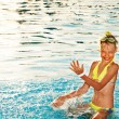 Child in swimming pool - Lizenzfreies Foto