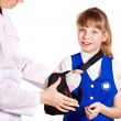 Stock Photo: Child with broken arm.