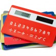 Stock Photo: Calculator and credit cards
