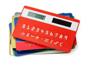 Calculator and credit cards — Stock Photo