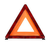 Trójkąt ostrzegawczy — Zdjęcie stockowe