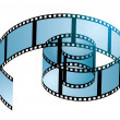 Film reel curl - Stock Vector