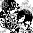 Pattern in black and white 2 - Stock Vector
