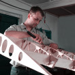 Постер, плакат: Man makes aircraft