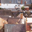 Roofs of old houses in Ludlow Shropshire — Stock Photo