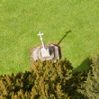Stock Photo: Carved cross from tower of Ludlow parish church