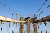 Detail of suspension on Brooklyn Bridge — Stock Photo