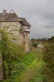 Stokesay castle w shropshire w pochmurny dzień — Zdjęcie stockowe