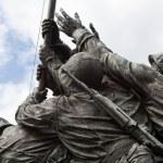 Detail of Iwo Jima Memorial in Washington DC — Stock Photo