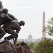 Detail of Iwo Jima Memorial in Washington DC - Stock Photo